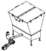 06652880 Automatyczny podajnik z zapalarką do spalania biomasy 10m3 400V 40kW, głowica: żeliwna (paliwo: trociny, wióry, zrębki, kora, brykiet, agrobrykiet, pellet, pestki owoców)