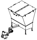 06652930 Automatyczny podajnik do spalania biomasy 10m3 400V 50kW, głowica: ceramiczna (paliwo: trociny, wióry, zrębki)