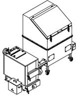 06652961 Automatyczny zestaw do spalania biomasy 1m3 400V 30kW, głowica: żeliwna, z systemem usuwania popiołu (paliwo: trociny, wióry, zrębki, kora, brykiet, agrobrykiet, pellet, pestki owoców)
