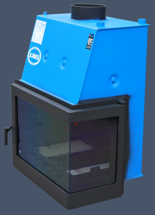17013555 Wkład kominkowy Enka 15kW Wiktor Prawy UO - układu z naczyniem wyrównawczym otwartym z płaszczem wodnym (prawa boczna szyba)