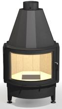 48955125 Wkład kominkowy 17kW ARYSTO A20 105 ST H szyba podnoszona do góry, dopalanie spalin + rekuperacja (szyba półokrąga)