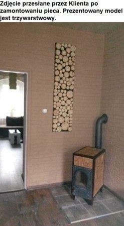 DOSTAWA GRATIS! 92238186 Piec grzewczy kaflowy 9kW Retro czterowarstwowy z szybą na drewno (wysokość: 100cm, wylot: 125mm)