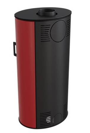 KONS Piec wolnostojący koza 8kW AB (z panelami kaflowymi - czerwony) - spełnia anty-smogowy EkoProjekt 30060590