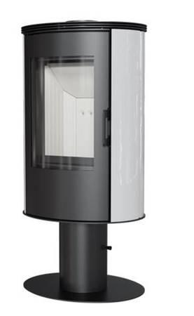 KONS Piec wolnostojący koza 8kW KOZA AB (z panelami kaflowymi - biały) - spełnia anty-smogowy EkoProjekt 30066826