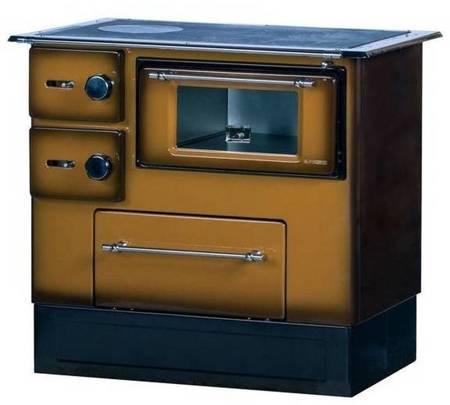 Kuchnia wolnostojąca, angielka na drewno 5kW, bez płaszcza wodnego (kolor: brązowy) 27776231