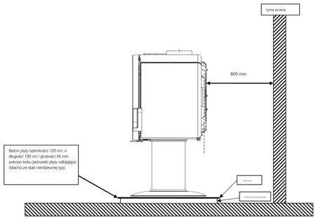 Piec wolnostojący Invicta 10kW Fifty (średnica wylotu spalin: 150mm, kolor: emalia czerwona)- spełnia anty-smogowy EkoProjekt 86865687