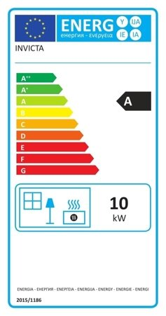 Piec wolnostojący Invicta 10kW Sedan M (kolor: emalia szara) - spełnia anty-smogowy EkoProjekt 86854947