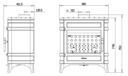 Piec wolnostojący Invicta 12kW Siam (kolor: antracyt) - spełnia anty-smogowy EkoProjekt 86829186