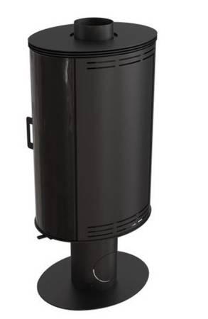 Piec wolnostojący koza 8kW AB GLASS (z panelami kaflowymi - czarny) - spełnia anty-smogowy EkoProjekt 30055007