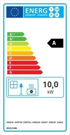 Wkład kominkowy 10kW Nadia Gilotyna (szyba prosta, drzwi podnoszone do góry) - spełnia anty-smogowyEkoProjekt 30046760